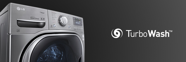 CLEAN IS THE NEW SMART WITH THE TURBOWASH FRONT-LOAD WASHER