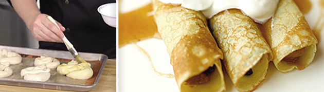 A tasty twist: zesty pretzels & fresh apple crêpes