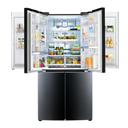 Doubly appealing: The first mega-capacity refrigerator with double Door-in-Door™ feature and contoured glass finish