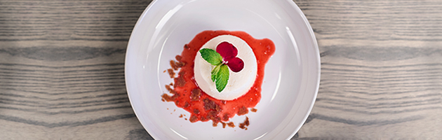 You've just gotta try this rose water panna cotta
